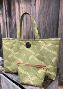Image of Classic Tote and match Accessory Case  lovely Spring green