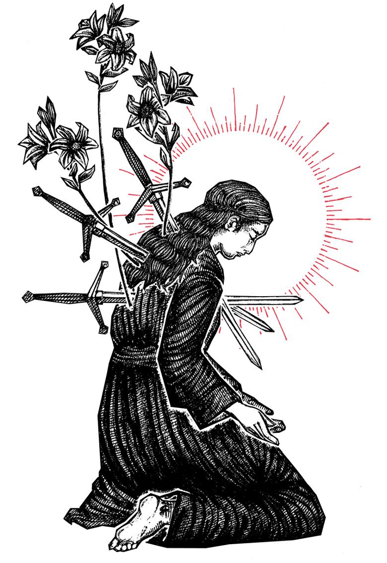 "Image of ""Pain"" 8.5""x11"" Watercolor Print"