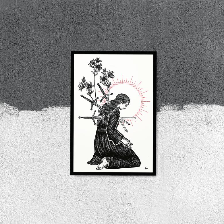 "Image of ""Pain"" 13""x19"" Artisan Luster Paper Print"