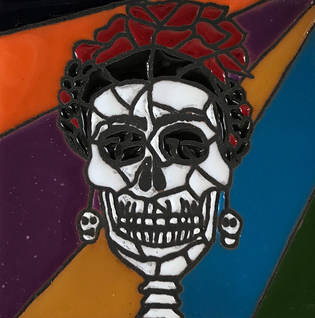 Image of Frida Muerto Mozaic Coaster Tile