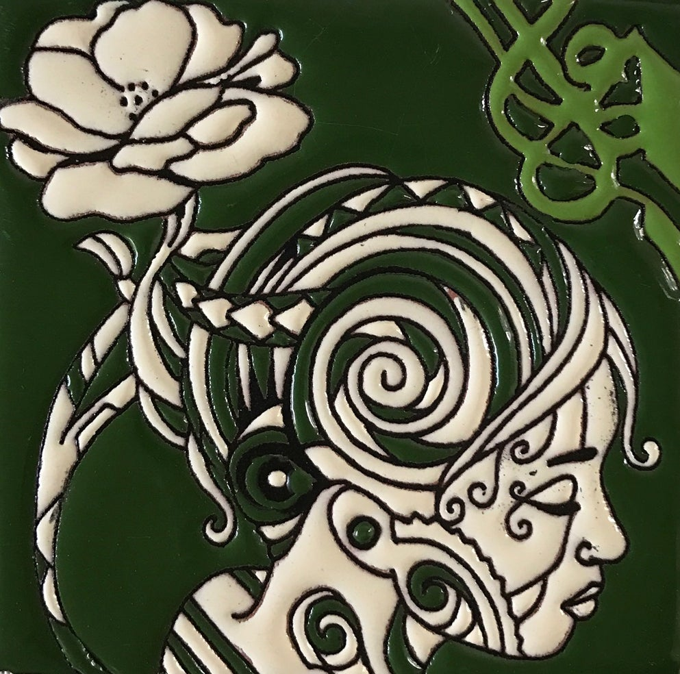Image of Flower Goddess Coaster Tile