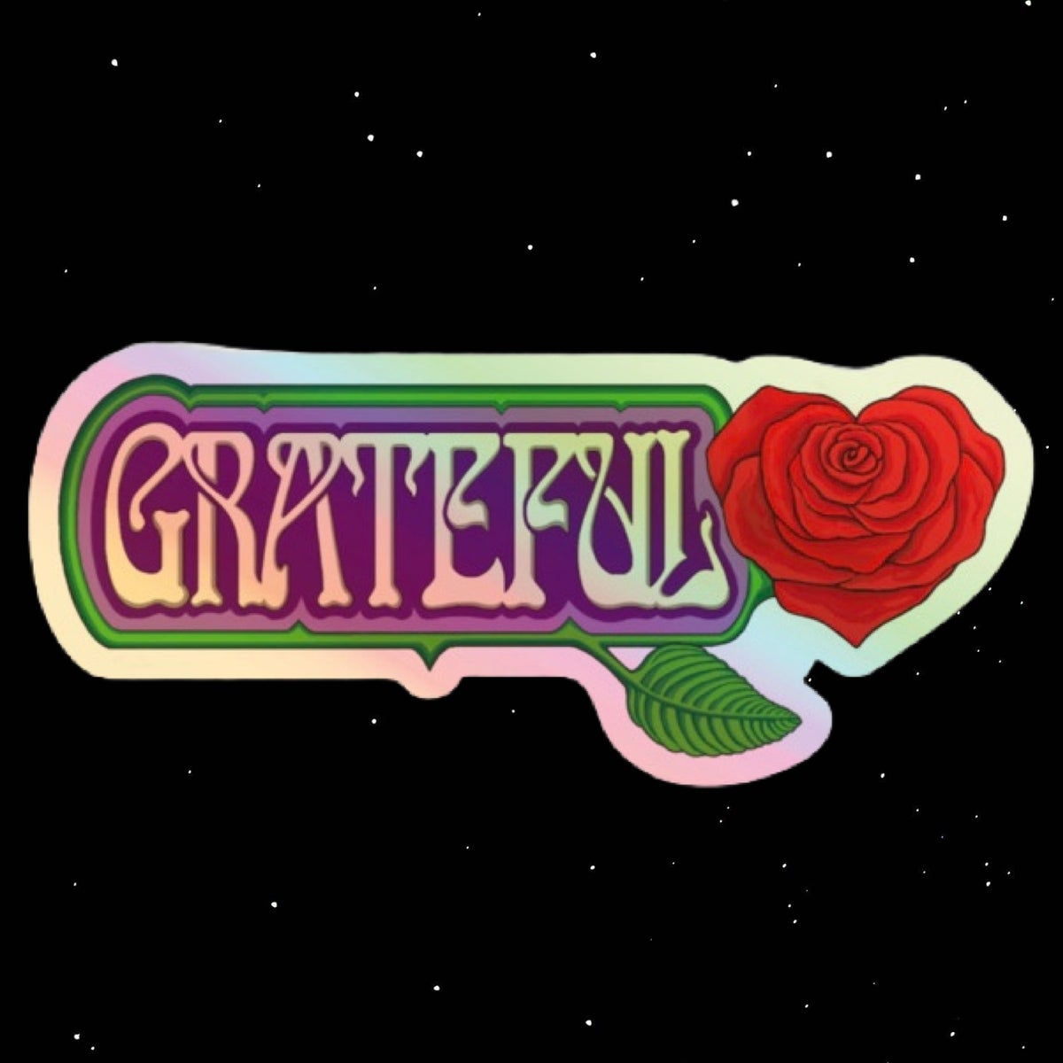 Grateful Holographic Stickers - X-LARGE!!