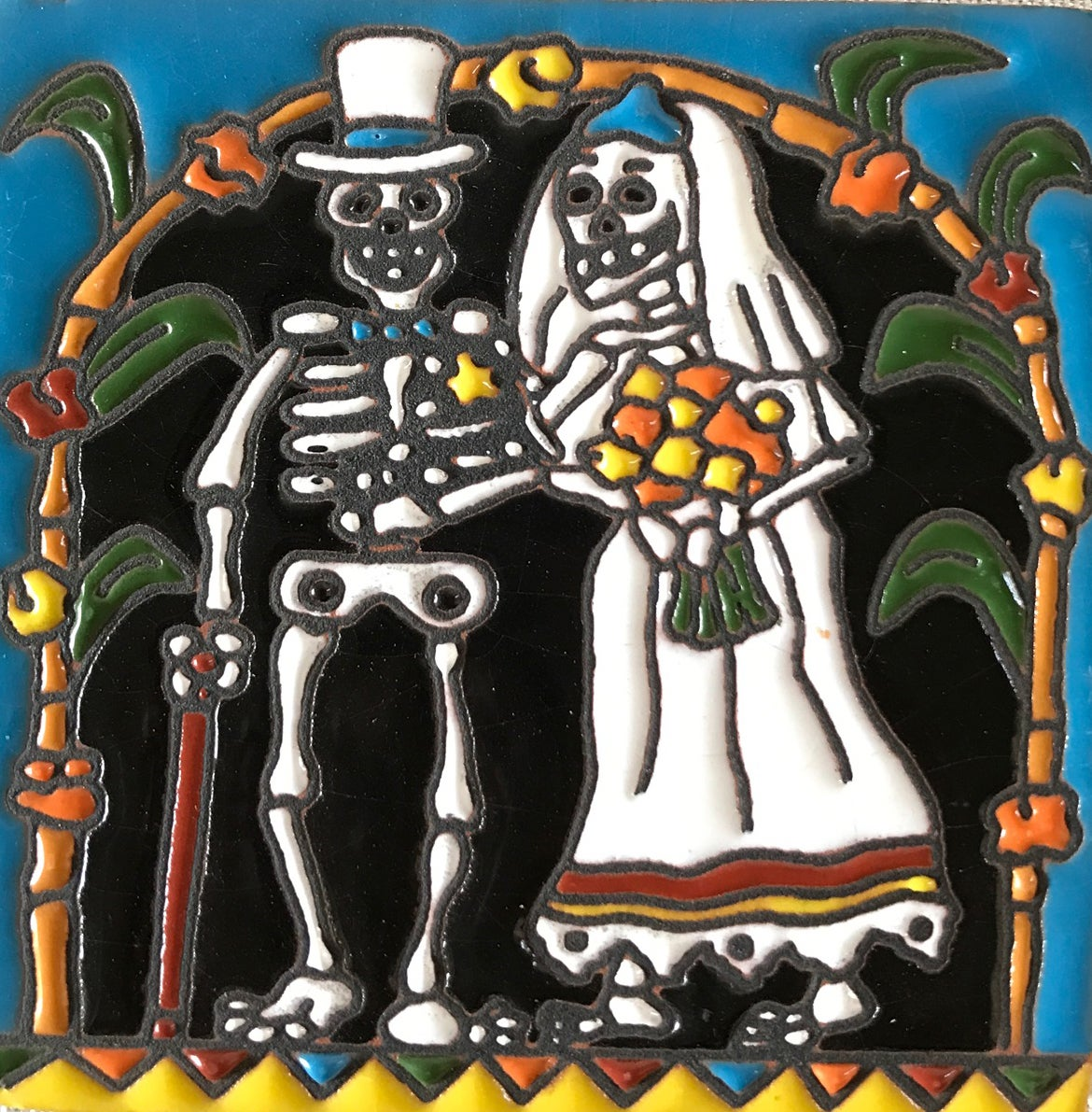 Image of Wedding Day Coaster Tile