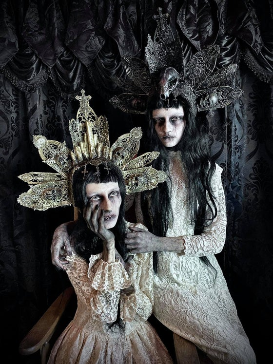 Image of Mother Filth - rotten painted halo headdress