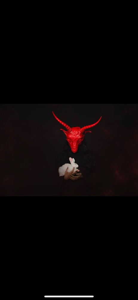 Image of Sweet Inferno - scarlet red goat mask