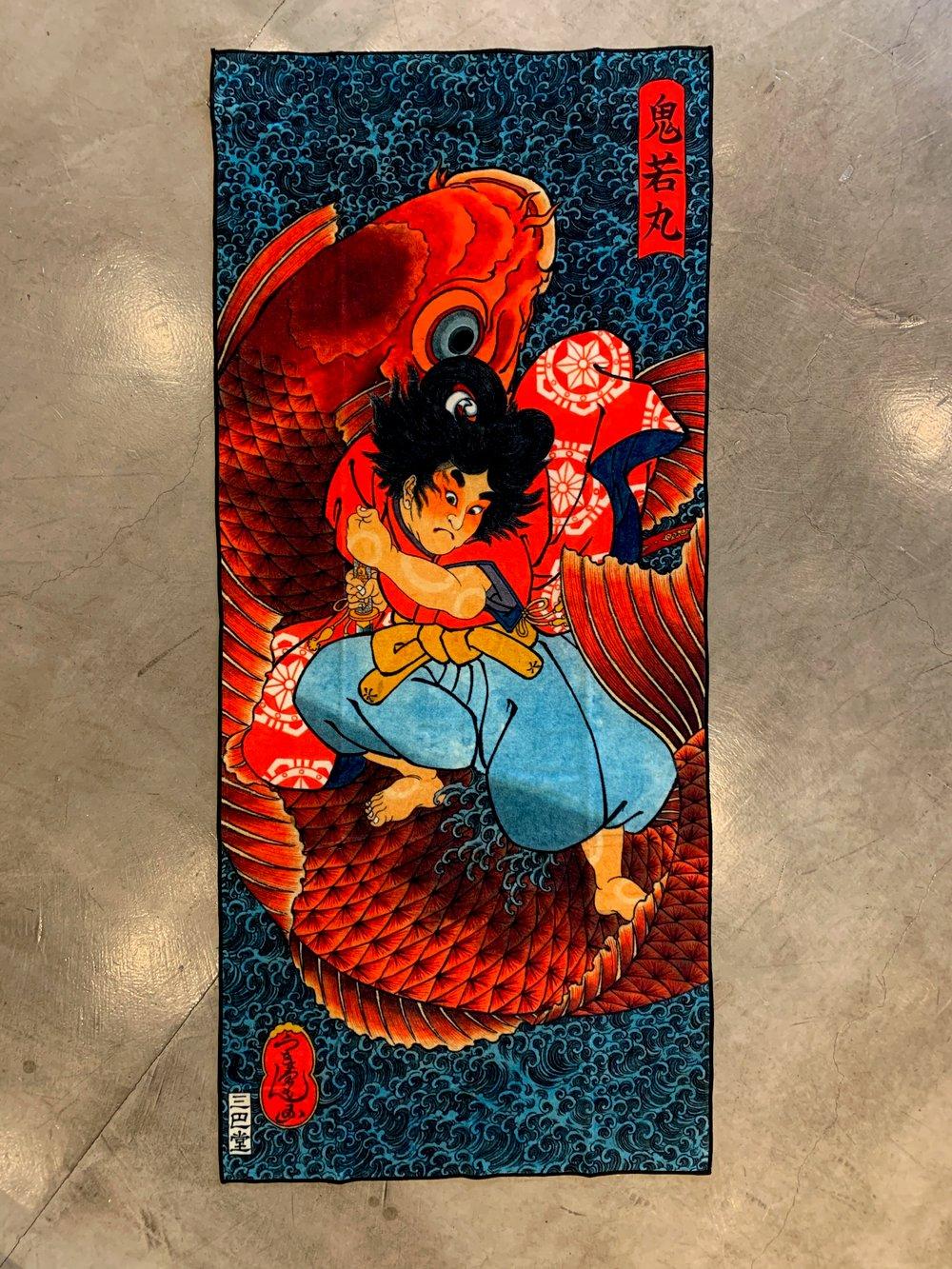 Image of UKIYOEMON ONIWAKAMARU BATH TOWEL