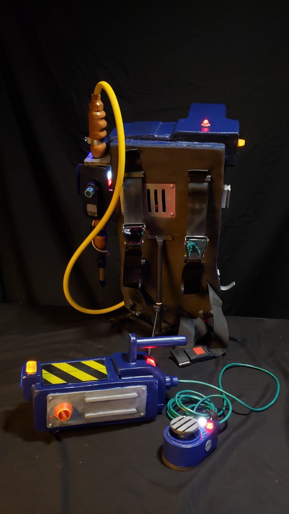 RGB cartoon style proton pack and ghost trap
