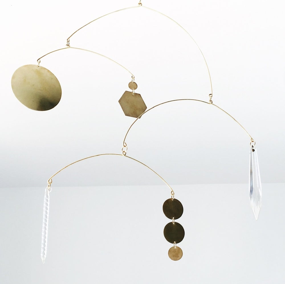 Image of Brass & Glass Kinetic Sculpture 002