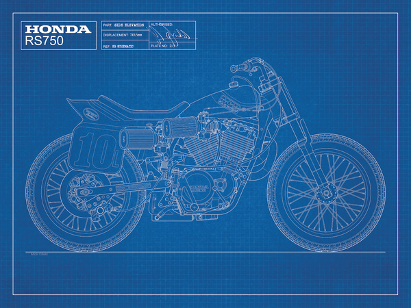 Image of Honda RS750 Blueprint