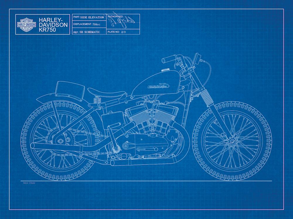Image of KR750 Giclee blueprint