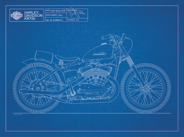 Image of KR750 Giclee blueprint