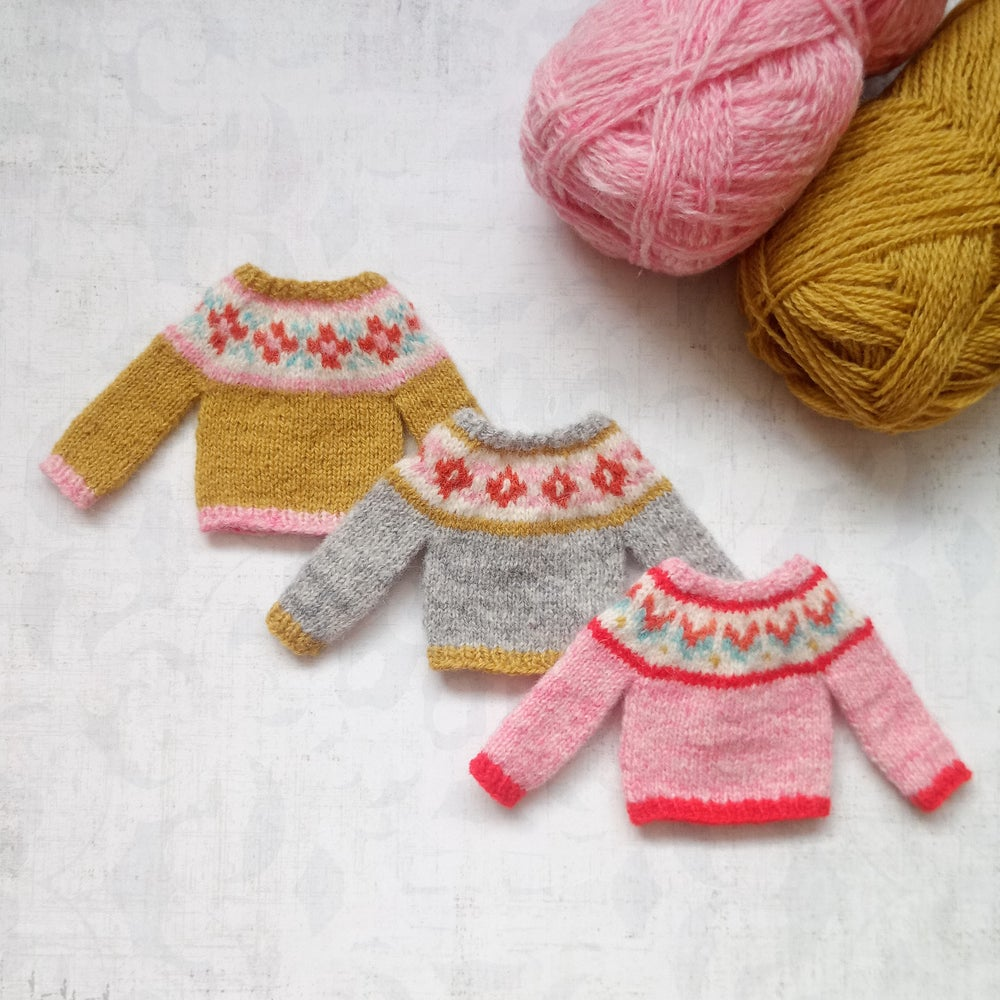 Image of Blythe and Licca Sweaters- Grey, Mustard, Pink