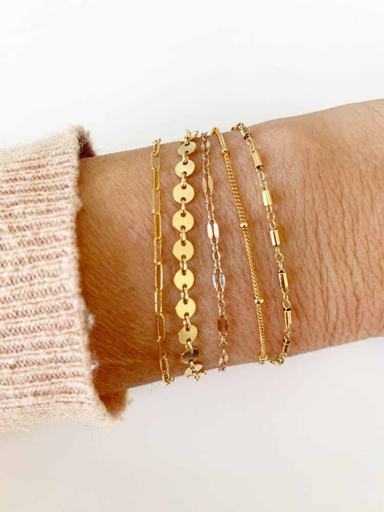 Image of Gold filled Dottie bracelet
