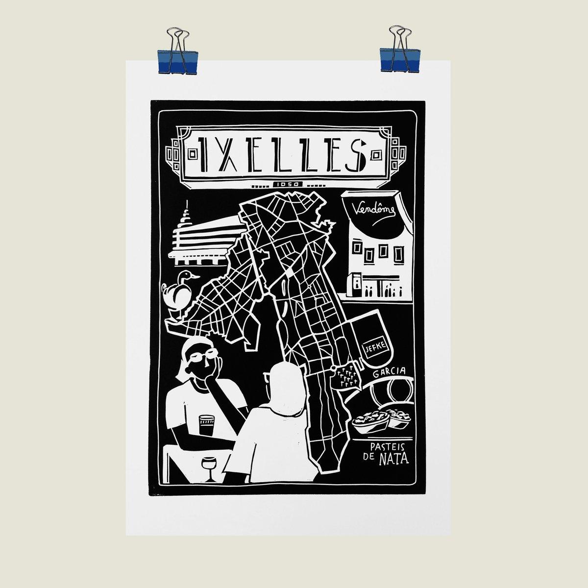 Linogravure Ixelles