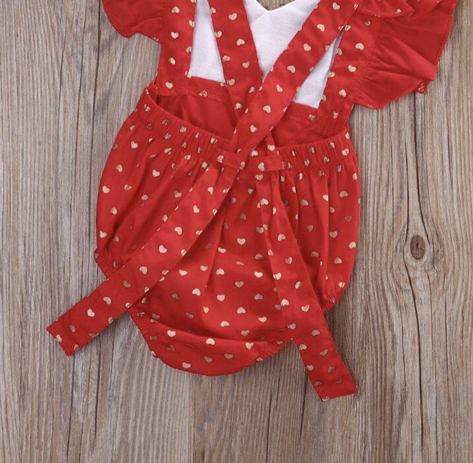 Image of Pink Love Romper