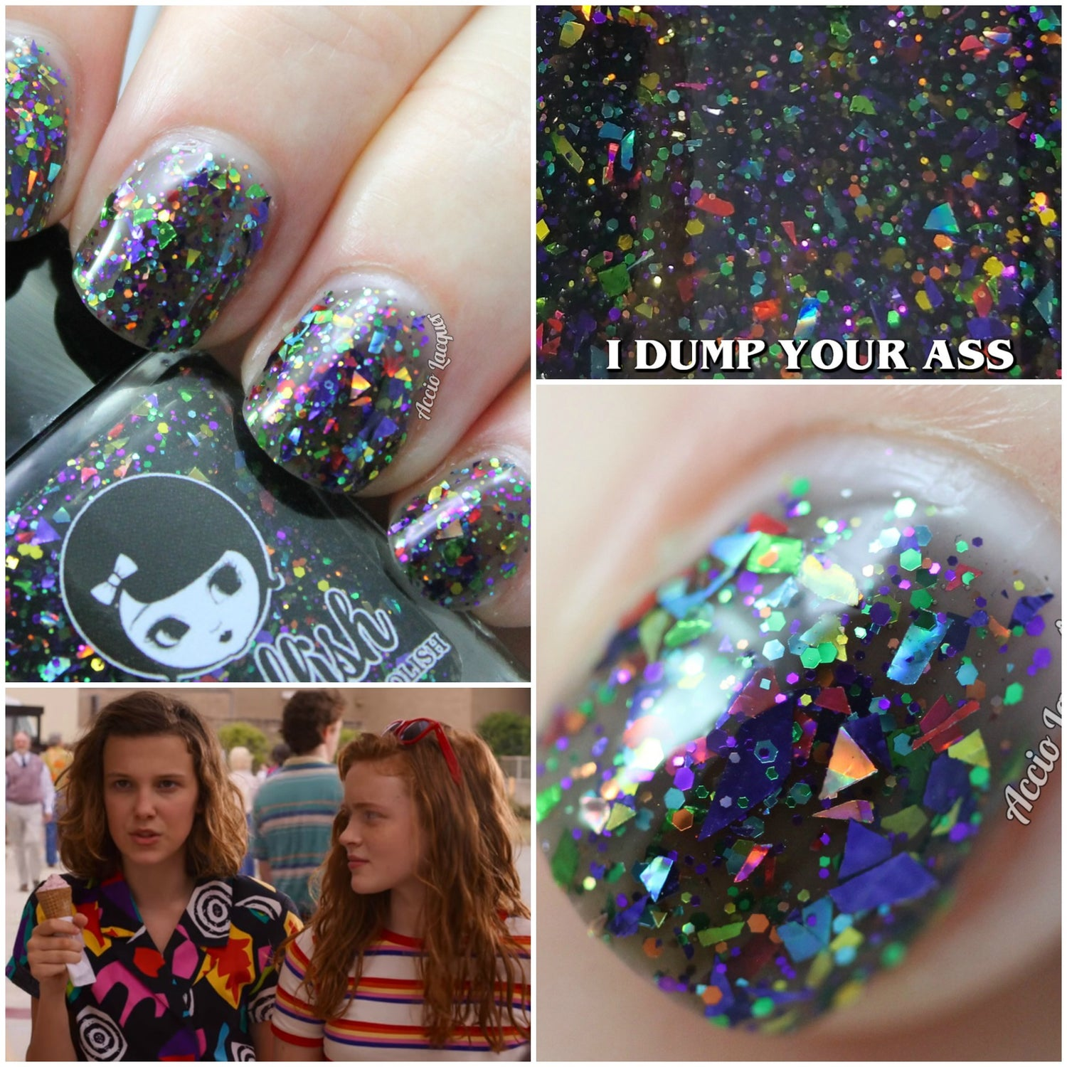 "Image of STRANGER THINGS 3 - ""I Dump your Ass"" Mini size polish"