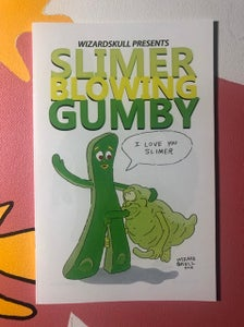 Image of Slimer Blowing Gumby Zine
