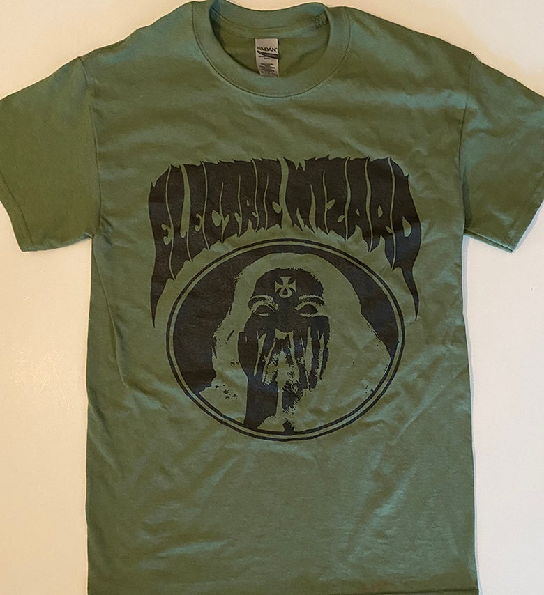 "Image of Electric Wizard "" Inverted Ankh Girl ""  Green T-shirt"