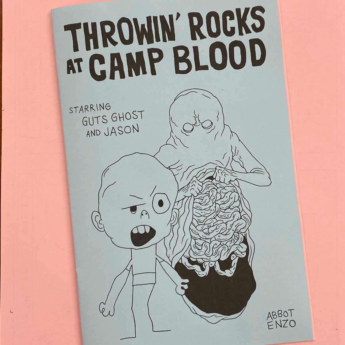 Image of Throwin' Rocks at Camp Blood mini comic