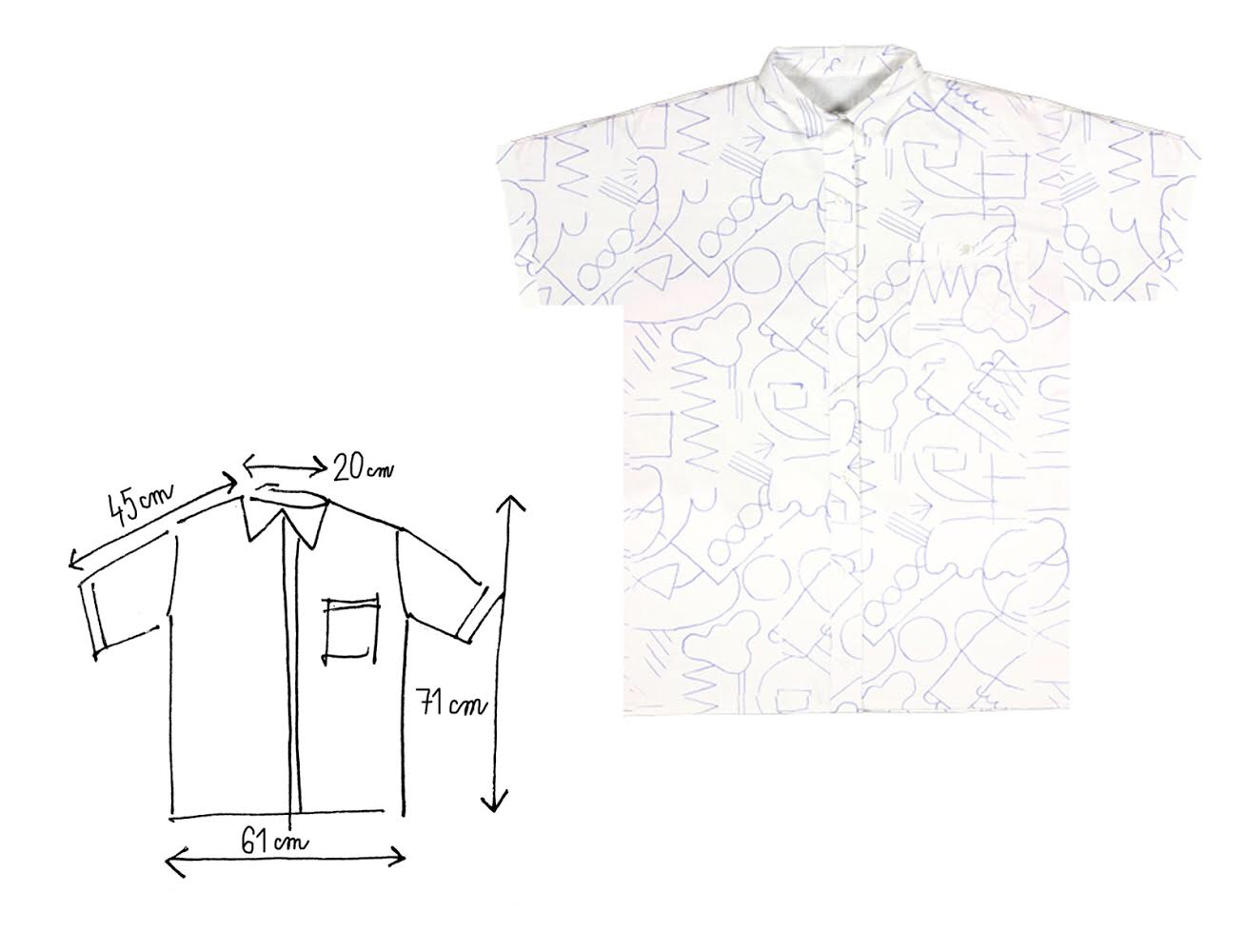 Image of LINE DRAWING SHIRT / screenprint