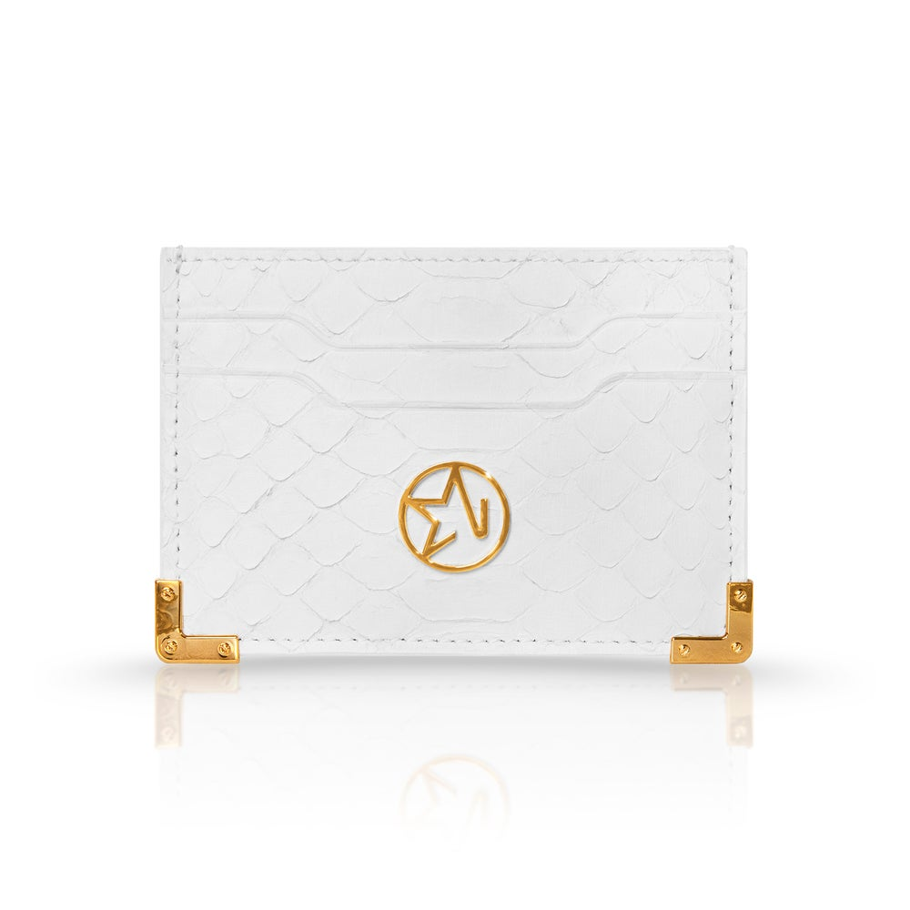 Image of LOUIS CARD HOLDER | PYTHON BLANC