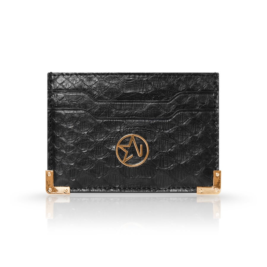 Image of LOUIS CARD HOLDER | PYTHON NOIR