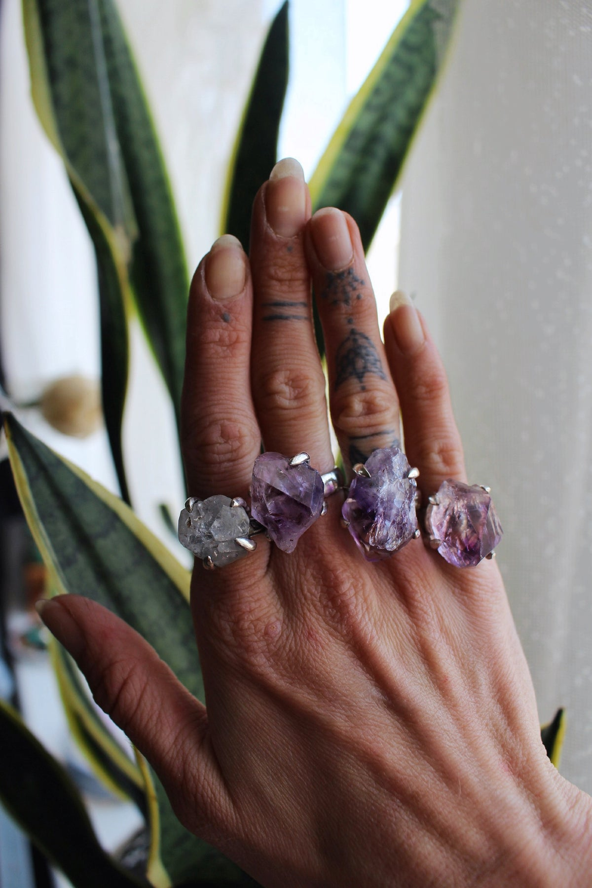 Image of Raw Cut Crystal Ring