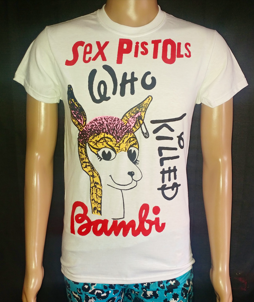 Image of Who Killed Bambi Sex Pistols white tshirt