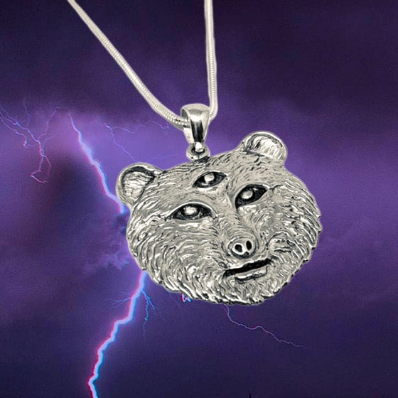 Image of Owsley Bear Tribute Pendant cast in Sterling Silver