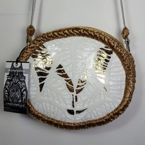 Image of Gold and white bag 1