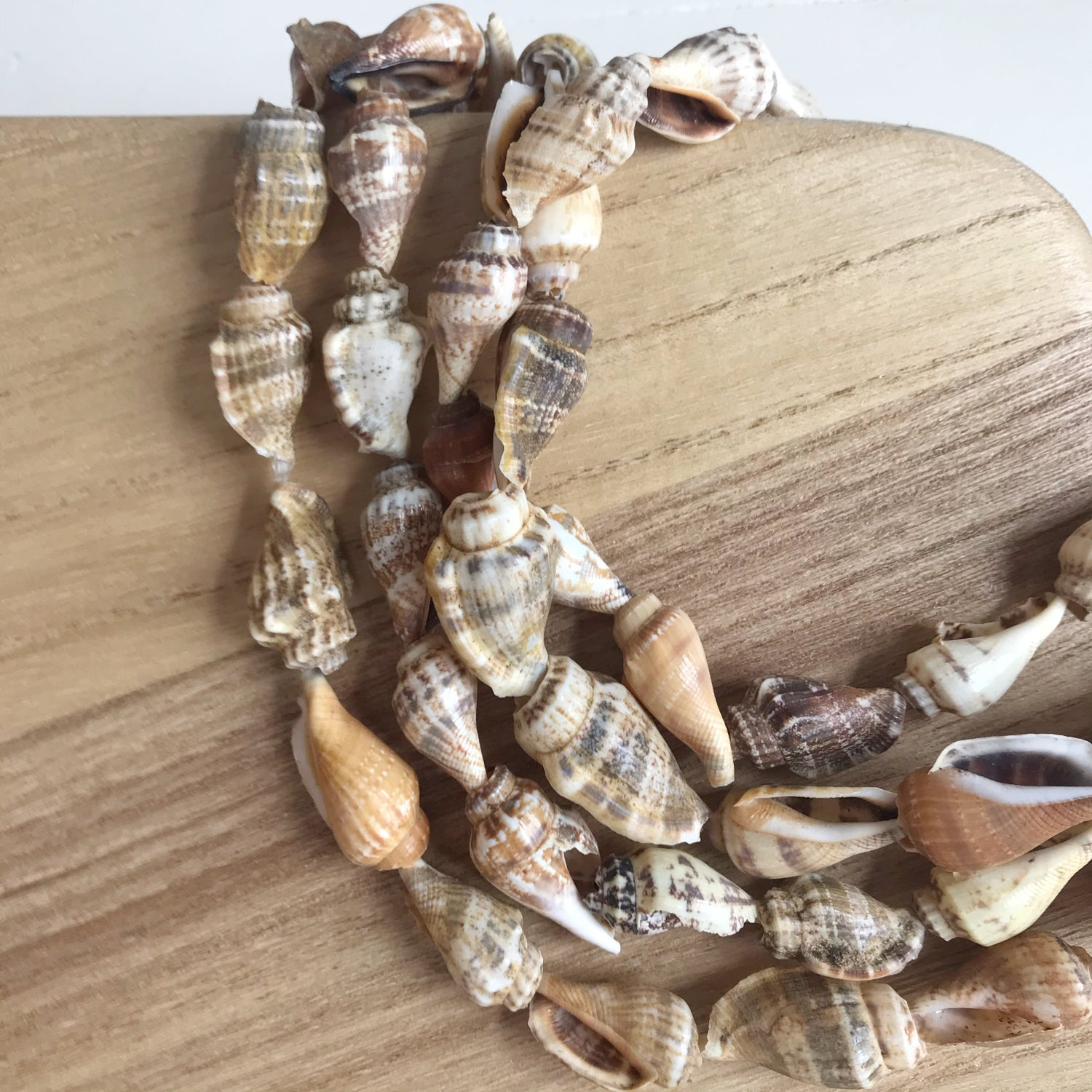 Image of Vintage Shell Strands - Pair