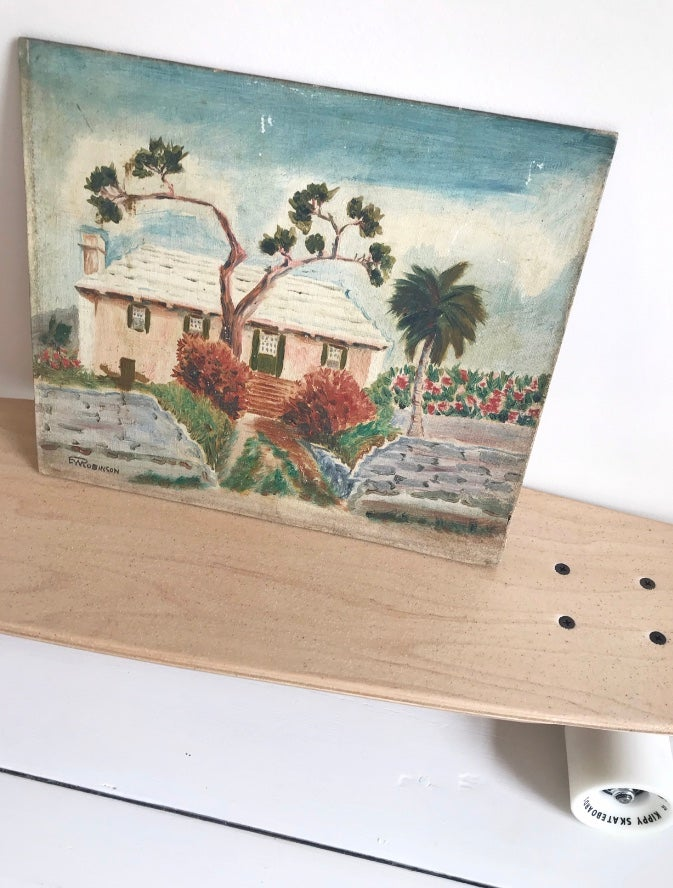 Image of Vintage Island Beach House Painting