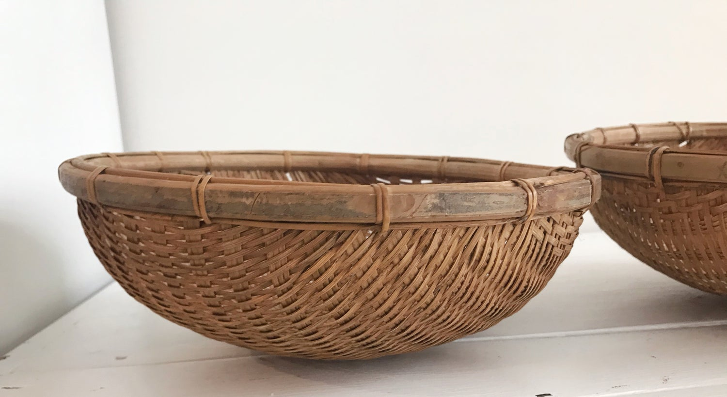 Image of Vintage Woven Fruit Bowl - Small