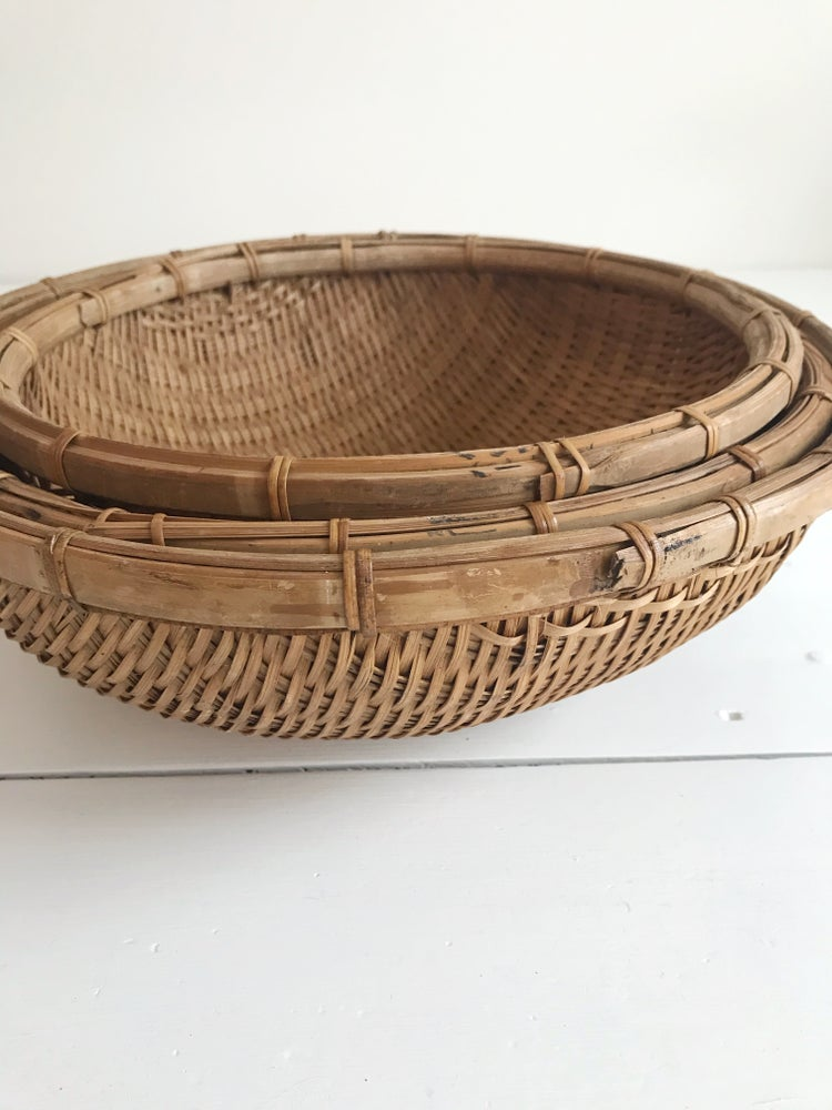 Image of Vintage Woven Fruit Bowl - Large