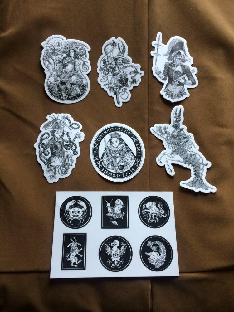 Image of Black & White Vinyl Sticker Set