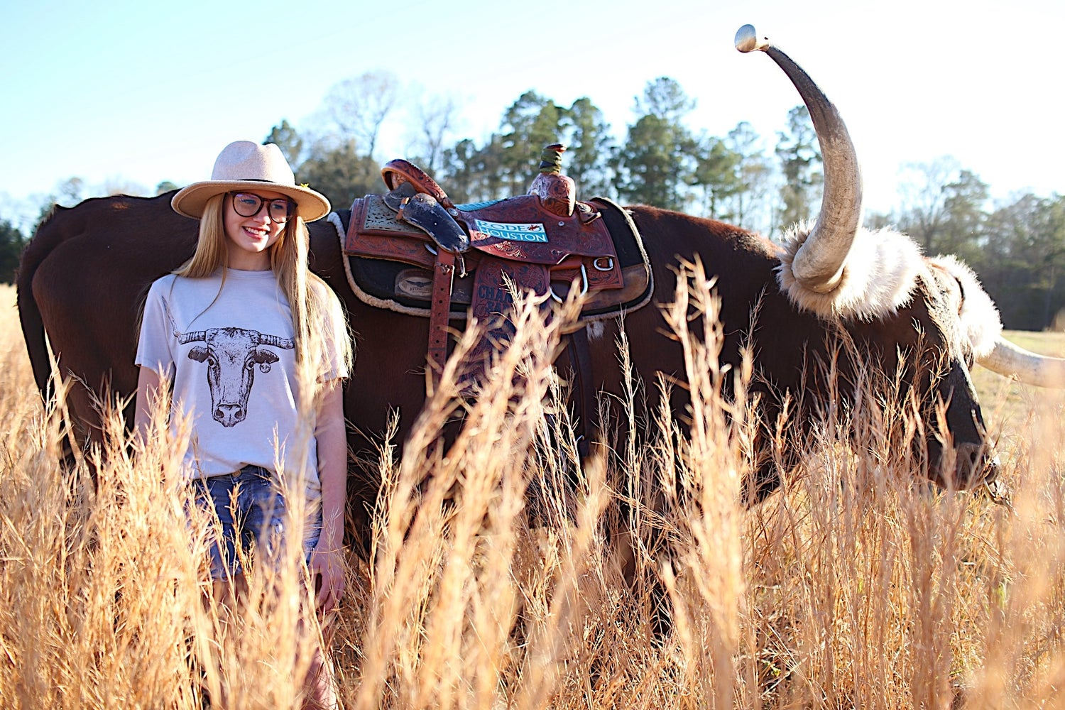 Image of Adult Longhorn Crew Neck Tee