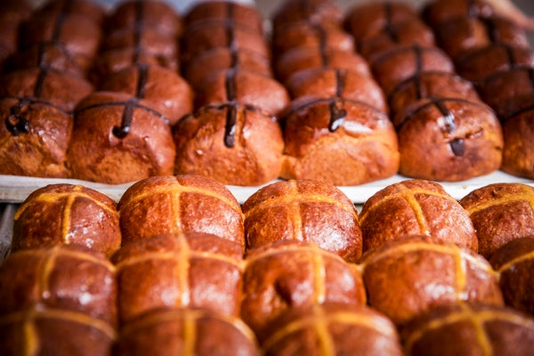Image of 4 Hot Cross brioches