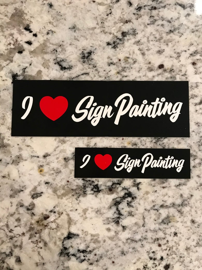 Image of I ❤️ Sign Painting Sticker set