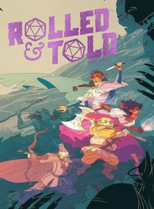 Image of Rolled & Told Vol. 1 with sketch!
