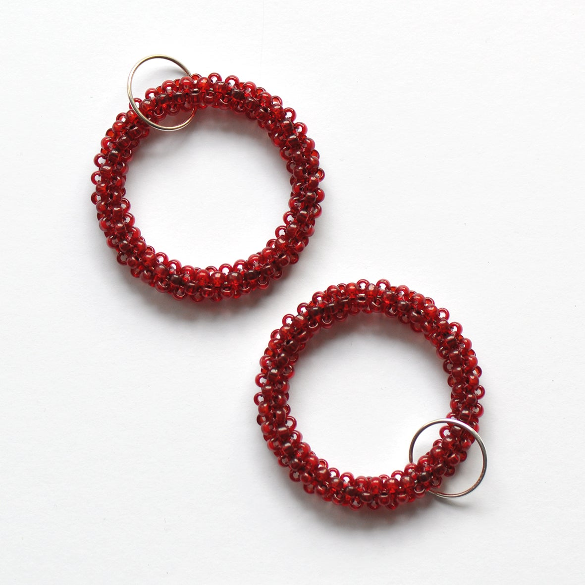Image of BASIC large hoop earrings