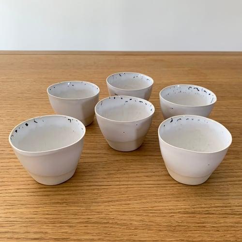 Image of 6 tasses à café en grès