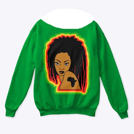 Image of  The RGG Dawta Wide Scoopneck Sweatshirt in Green