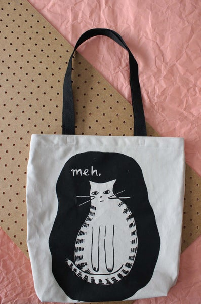 Image of Meh tote black straps