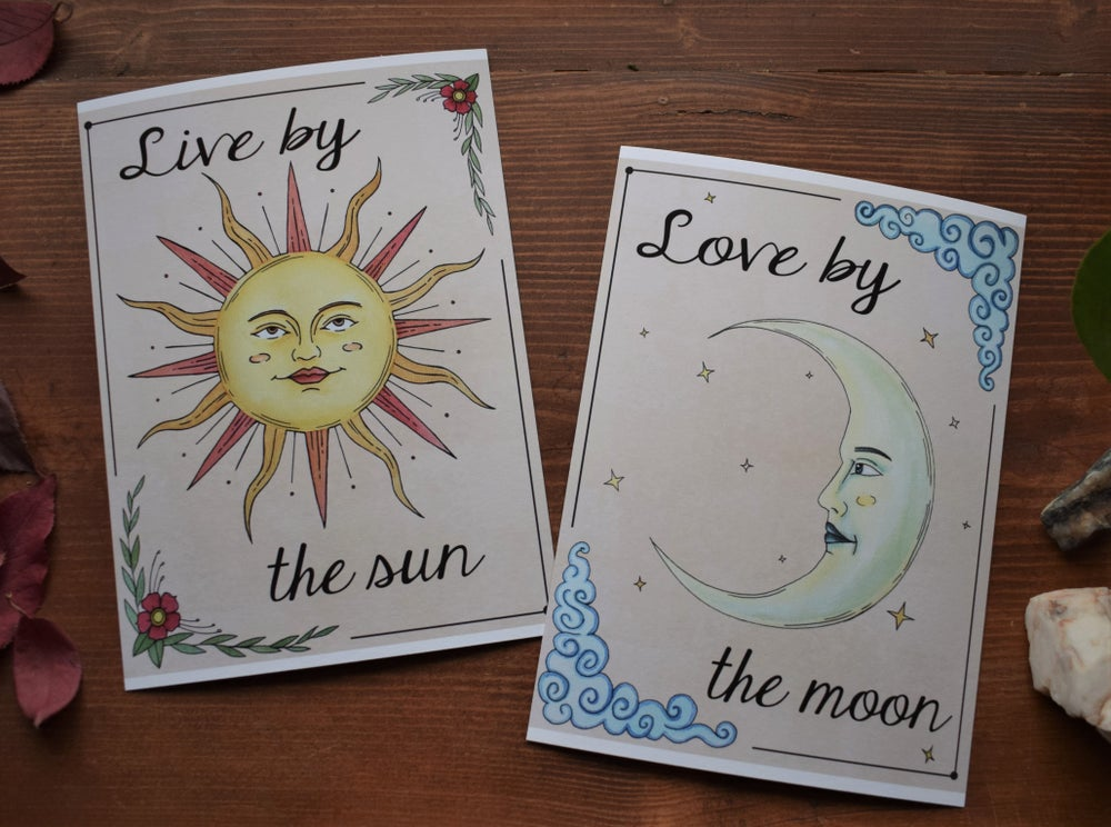 Image of Live by the Sun // Love by the Moon print