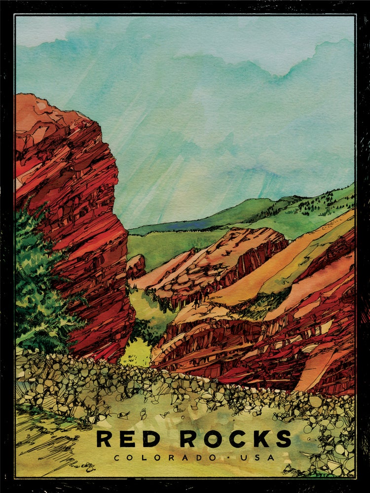 """Image of Red Rocks of Colorado, USA (Art Print) • L.E. Official Poster (18"""" x 24"""")"""