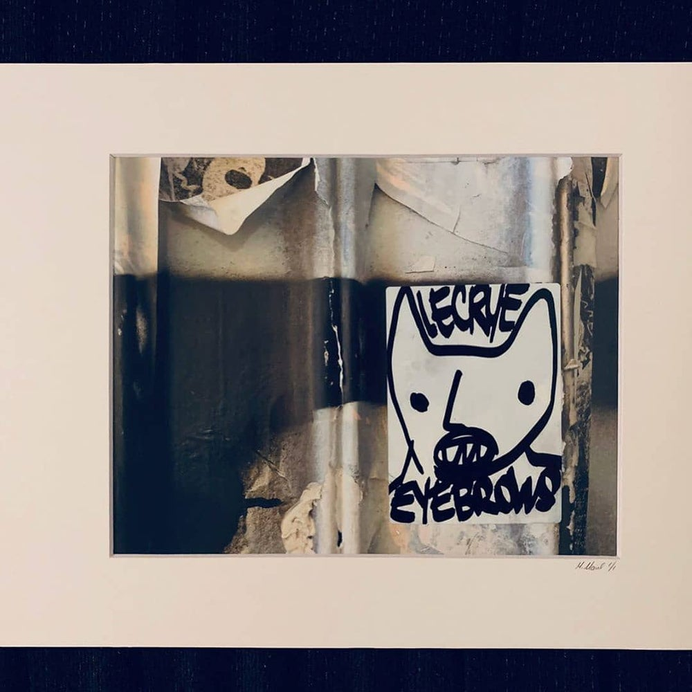 Image of Colloboration print and sticker black and white