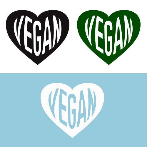 Image of Vegan Heart DECAL