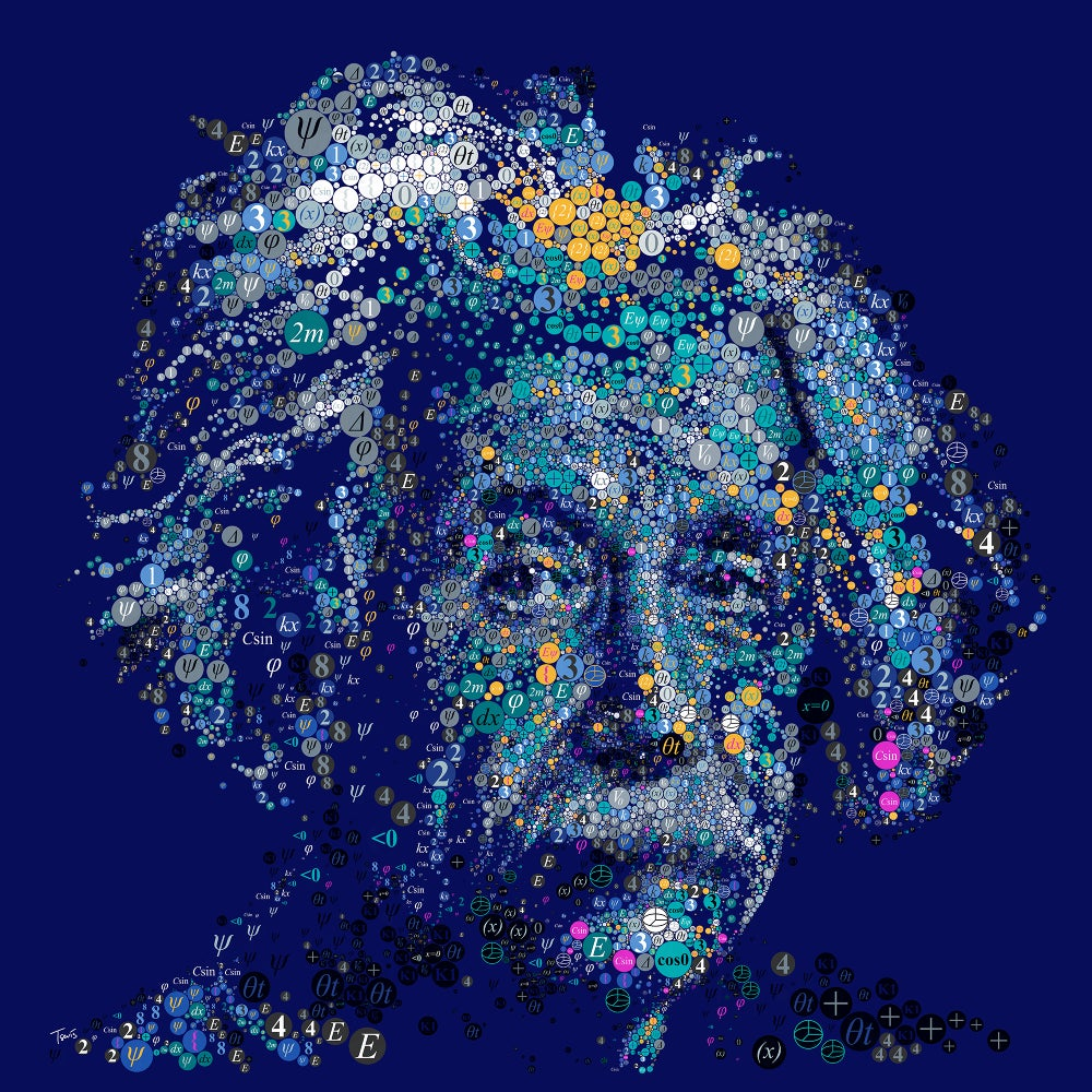 Image of Einstein by the number