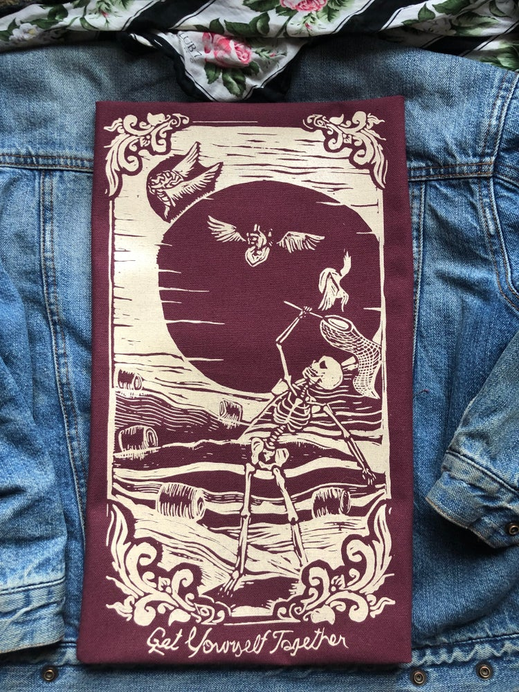 Image of Get Yourself Together backpatch-Burgundy Wine