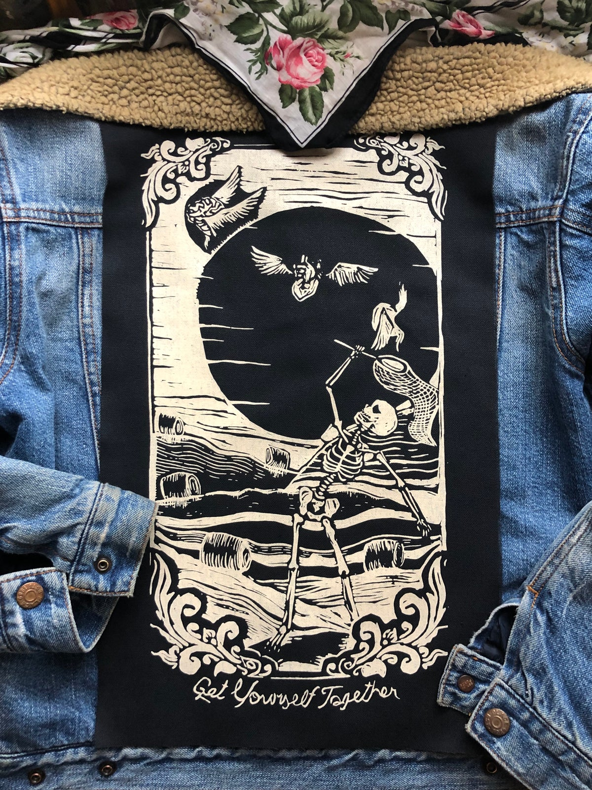 Image of Get Yourself Together Backpatch-Black with white ink